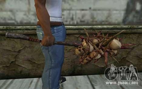 Spyked Zombie Skull Bat From Resident Evil 5 para GTA San Andreas tercera pantalla