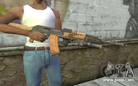 AK-74 Para asegurar a nuestros para GTA San Andreas tercera pantalla