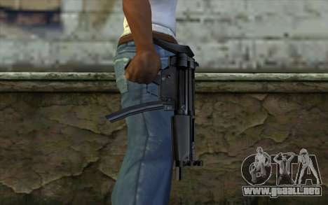 Retextured MP5 para GTA San Andreas tercera pantalla