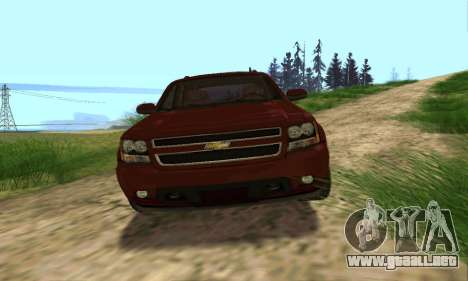 Chevrolet Tahoe Final para vista inferior GTA San Andreas
