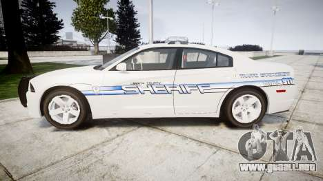 Dodge Charger RT [ELS] Liberty County Sheriff para GTA 4 left