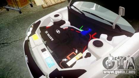 ВАЗ-2170 Instalado Antes el Acuario para GTA 4 vista lateral