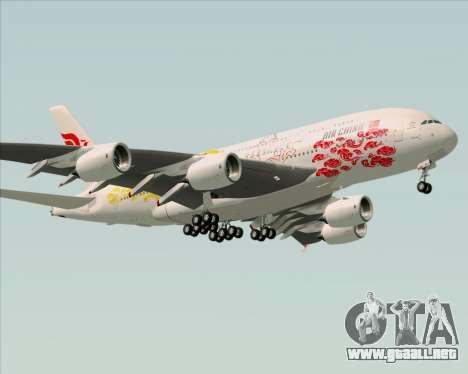 Airbus A380-800 Air China para GTA San Andreas vista posterior izquierda