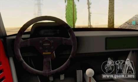 Ferrari F40 Competizione Black Revel para GTA San Andreas vista hacia atrás