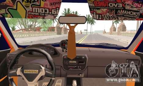 Honda Civic Fake Taxi para GTA San Andreas vista posterior izquierda