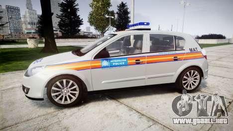 Vauxhall Astra 2010 Metropolitan Police [ELS] para GTA 4 left