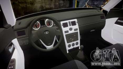ВАЗ-2170 Instalado Antes de Vossen para GTA 4 vista interior