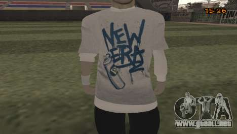 Tracer Skin New Era para GTA San Andreas tercera pantalla