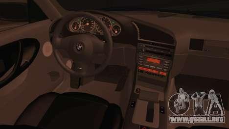 BMW M3 E36 Cabrio 34 DAT 29 para GTA San Andreas vista posterior izquierda