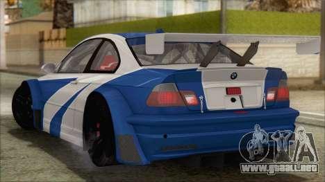 BMW M3 E46 GTR para GTA San Andreas left
