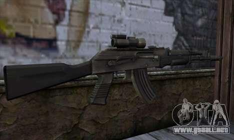 AK-103 Ravaged para GTA San Andreas segunda pantalla