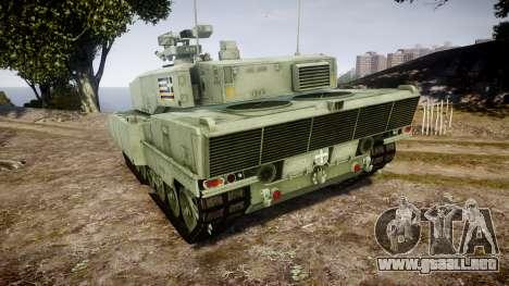 Leopard 2A7 GR Green para GTA 4 Vista posterior izquierda