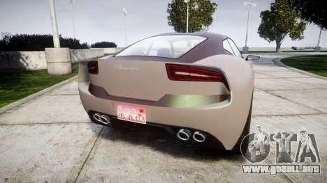 GTA V Lampadati Furore GT para GTA 4 Vista posterior izquierda