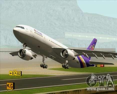 Airbus A300-600 Thai Airways International para las ruedas de GTA San Andreas