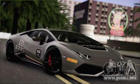 Lamborghini Huracan LP610-4 2015 Rim para vista lateral GTA San Andreas