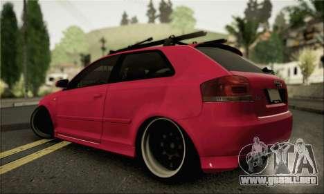 Audi S3 para GTA San Andreas left