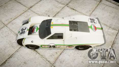 Ford GT40 Mark IV 1967 PJ Oilzanol 38 para GTA 4 visión correcta
