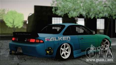 Nissan Silvia S14 Falken para GTA San Andreas left