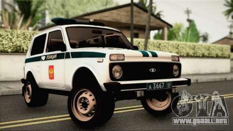 VAZ 2121 de la Policía para GTA San Andreas
