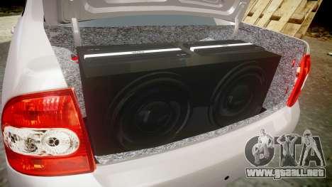 ВАЗ-2170 Instalado Antes el Acuario para GTA 4 vista superior