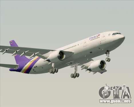 Airbus A300-600 Thai Airways International para vista inferior GTA San Andreas