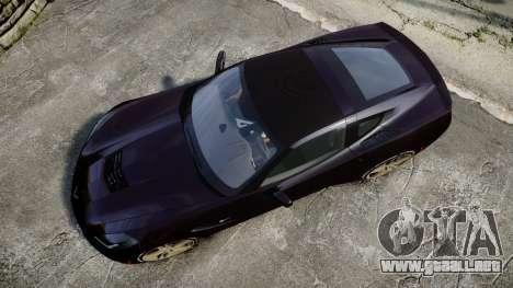 Chevrolet Corvette C7 Stingray 2014 v2.0 TireYA2 para GTA 4 visión correcta