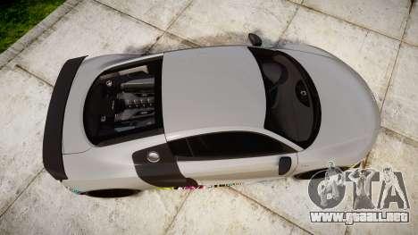 Audi R8 LMX 2015 [EPM] Sticker Bomb para GTA 4 visión correcta