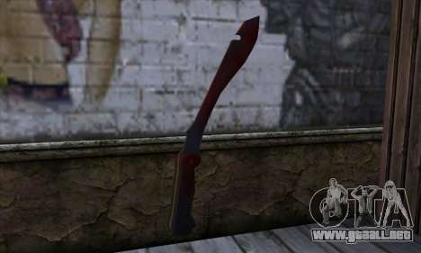 Bloody Machete from Far Cry para GTA San Andreas segunda pantalla