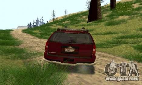 Chevrolet Tahoe Final para GTA San Andreas vista posterior izquierda