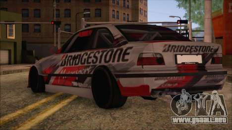 BMW E36 Coupe Bridgestone para GTA San Andreas left