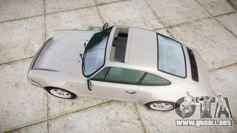 Porsche 911 (964) Coupe para GTA 4 visión correcta