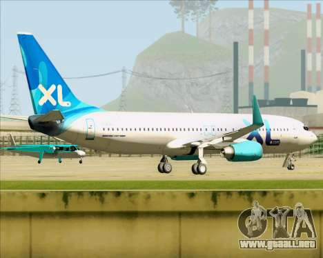 Boeing 737-800 XL Airways para la visión correcta GTA San Andreas