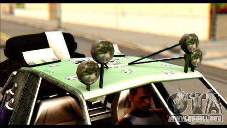 Buggy Fireball from Fireburst para GTA San Andreas vista posterior izquierda