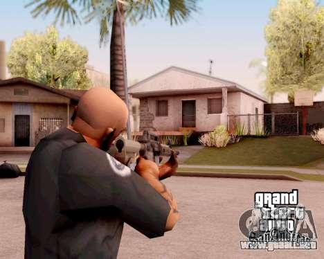M4A1 BF4 para GTA San Andreas segunda pantalla