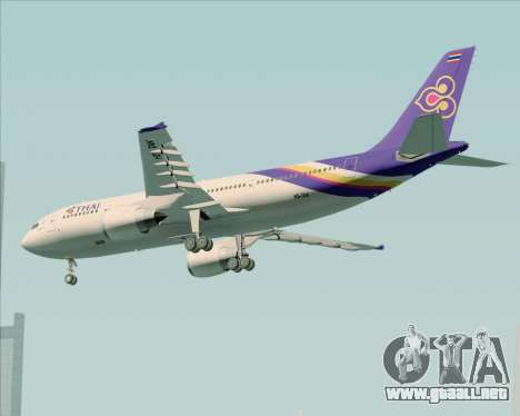 Airbus A300-600 Thai Airways International para la visión correcta GTA San Andreas