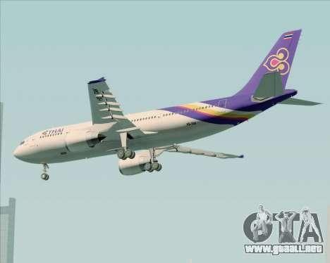 Airbus A300-600 Thai Airways International para la visión correcta GTA San Andreas