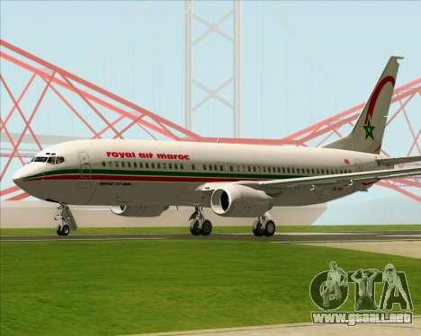 Boeing 737-8B6 Royal Air Maroc (RAM) para la visión correcta GTA San Andreas
