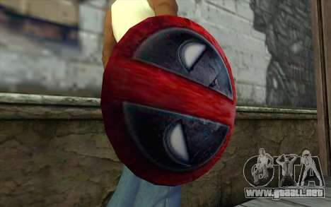 DeadPool Shield v1 para GTA San Andreas tercera pantalla