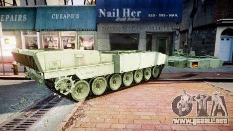 Leopard 2A7 DE Green para GTA 4 vista hacia atrás