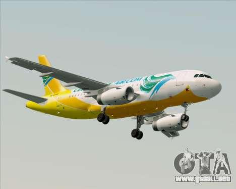 Airbus A319-100 Cebu Pacific Air para GTA San Andreas left