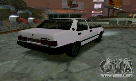 Tofas Sahin Taxi para GTA San Andreas vista posterior izquierda