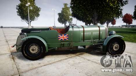 Bentley Blower 4.5 Litre Supercharged [low] para GTA 4 left