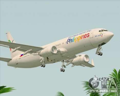 Boeing 737-800 South East Asian Airlines (SEAIR) para la visión correcta GTA San Andreas