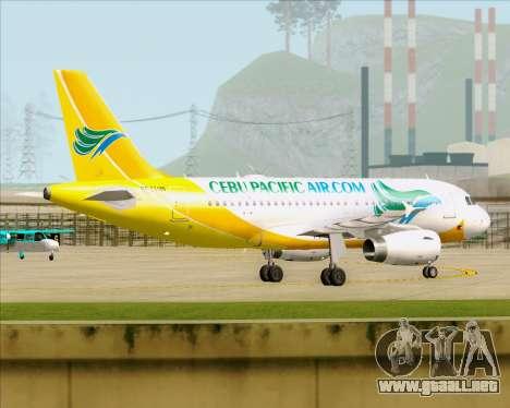 Airbus A319-100 Cebu Pacific Air para visión interna GTA San Andreas