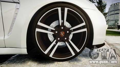 Porsche Panamera GTS 2014 para GTA 4 vista hacia atrás