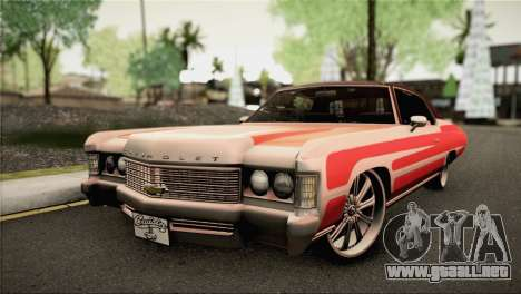 Chevrolet Impala Lowrider para GTA San Andreas
