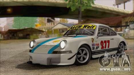 Porsche 911 Carrera 1973 Tunable KIT C para visión interna GTA San Andreas