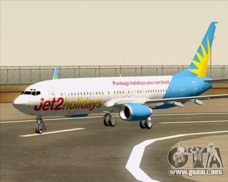 Boeing 737-800 Jet2Holidays para las ruedas de GTA San Andreas