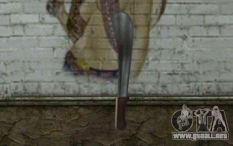 Machete (GTA Vice City) para GTA San Andreas segunda pantalla