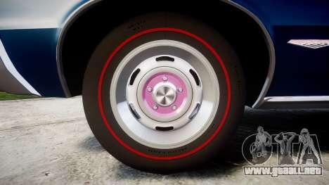 Pontiac GTO 1965 para GTA 4 vista hacia atrás